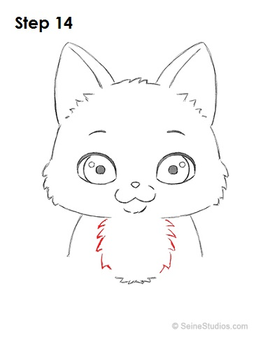 Draw a Cartoon Cat 14