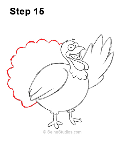 Draw a Thanksgiving Turkey 15