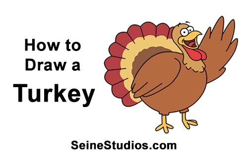 How to Draw a Thanksgiving Turkey