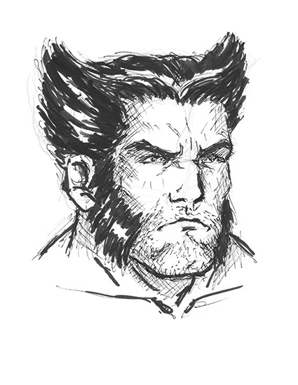 Logan (Wolverine) Real Time Sketch Drawing
